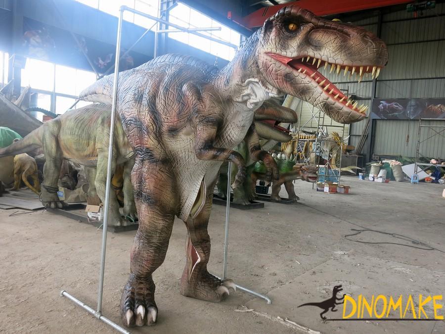 Funny Amusement Park Animatronic Dinosaur Costume