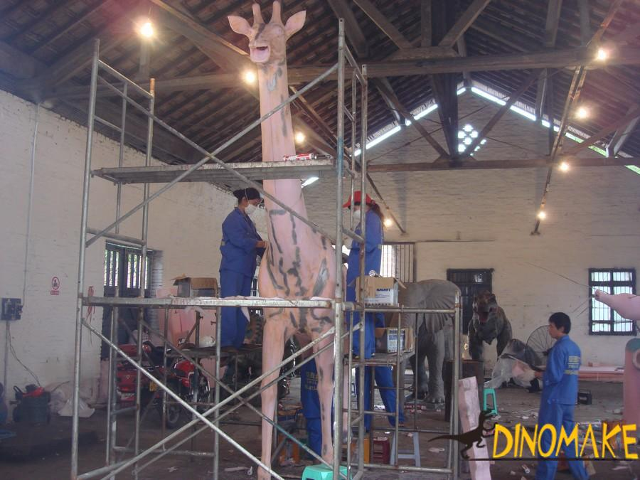 High quality Animatronic dinosaur model are shipped to theme park