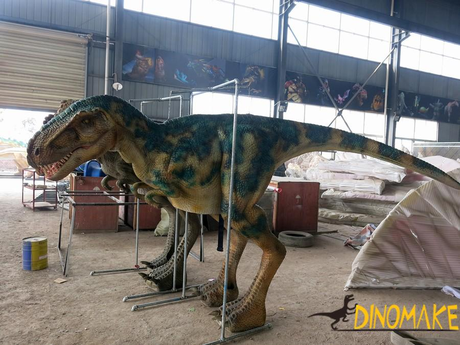 Horrible walking dinosaur of realistic T-rex costume