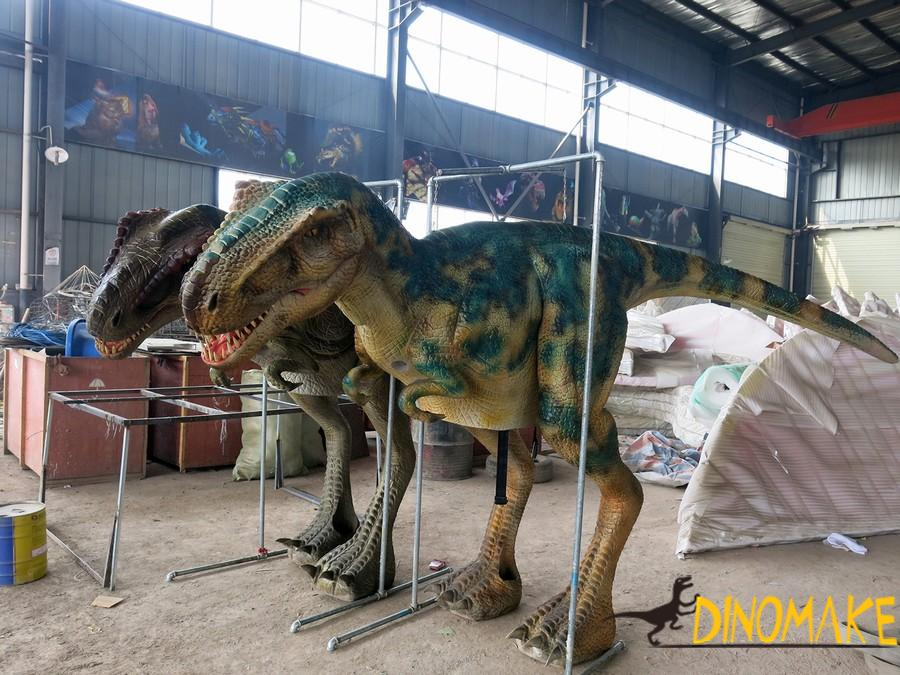 Horrible walking dinosaur of realistic T-rex costumes