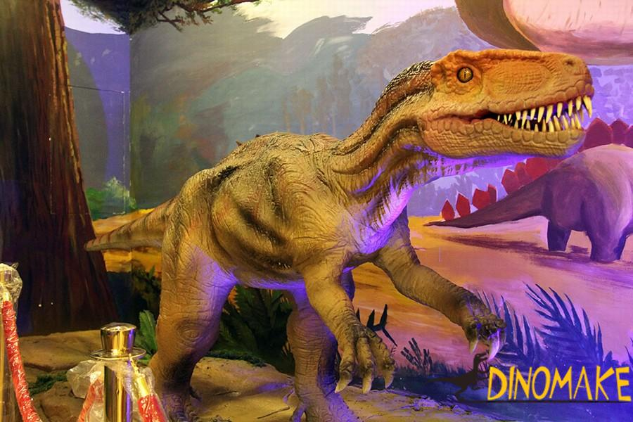 Huge Animatronic dinosaur in museum