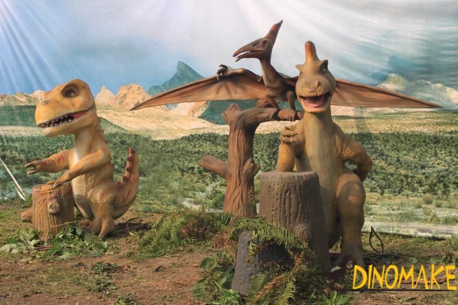 Life-size Animatronic Pterosaur flying Dinosaur