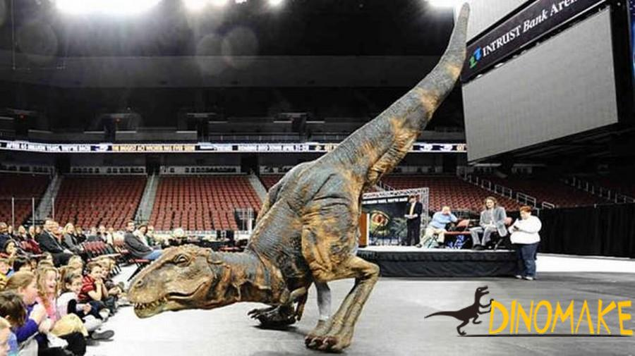 Life-size T-Rex dinosaur Costume airlifted to North America