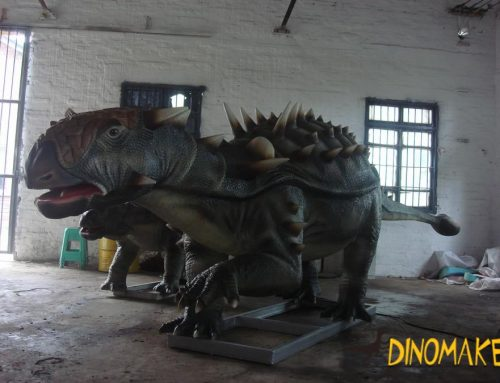 The Life-size and realistic the animatronic dinosaur exhibition