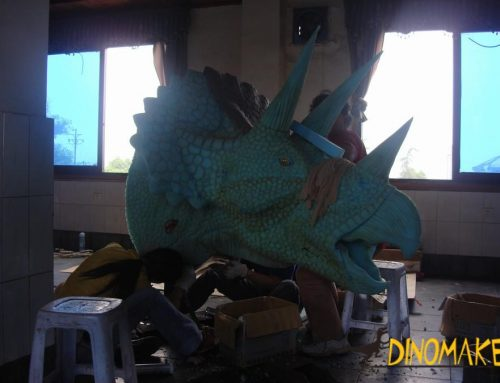 Life-size attractive mechanical Animatronic Dinosaur