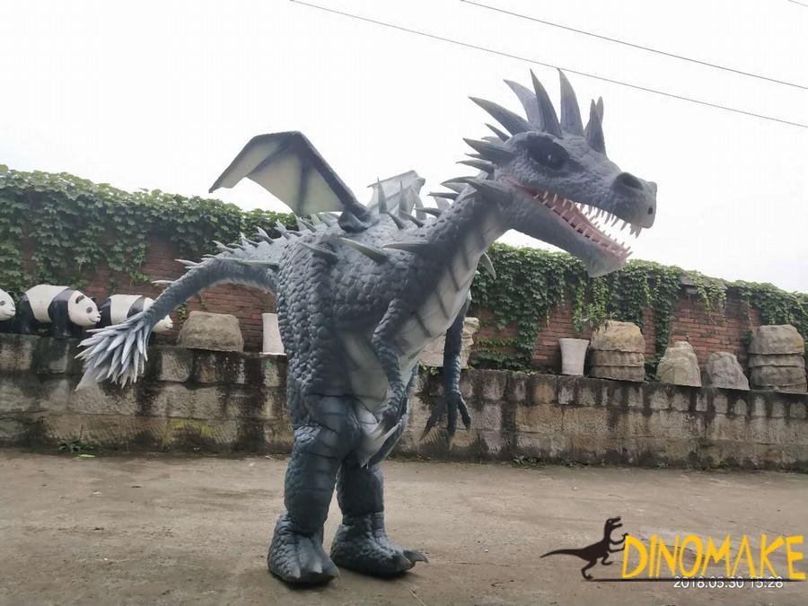 Life-size props puppet walking dinosaur suit