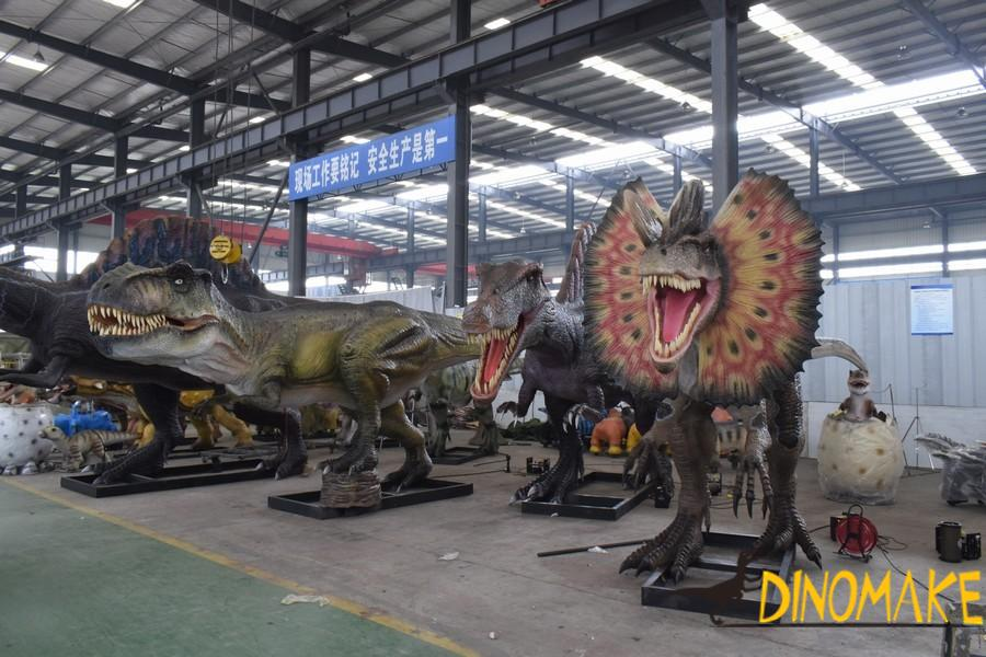Outdoor entertainment custom Animatronic dinosaur