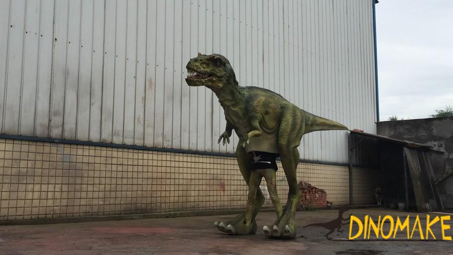 Outdoor equipment animatronic walking dinosaur costume model of T-rex
