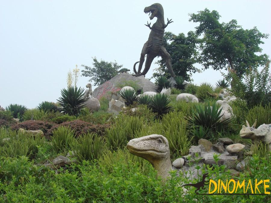 Outdoor park Animatronic dinosaurs model for sale