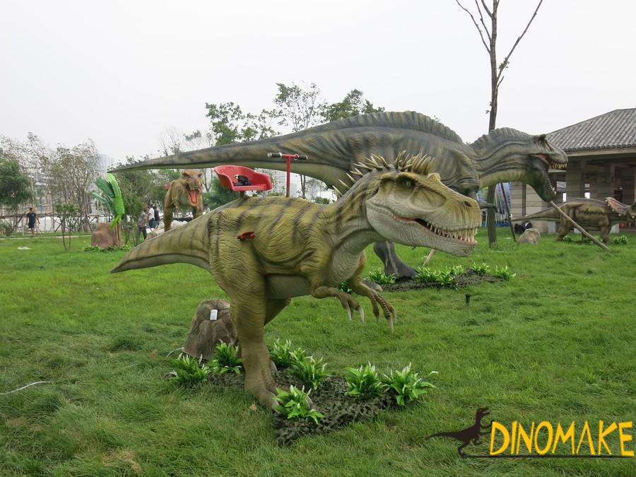 Outdoor playground equipment real Animatronic dinosaur ride