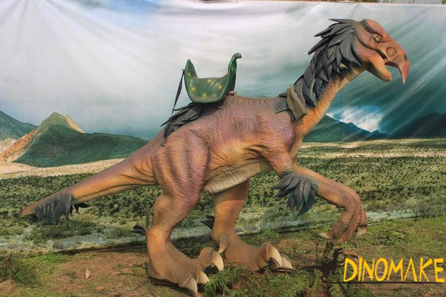 Outdoor playground equipment real size Animatronic dinosaur ride
