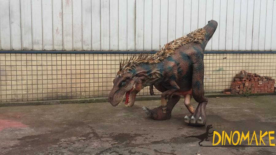 Playground decoration high quality walking Animatronic dinosaur