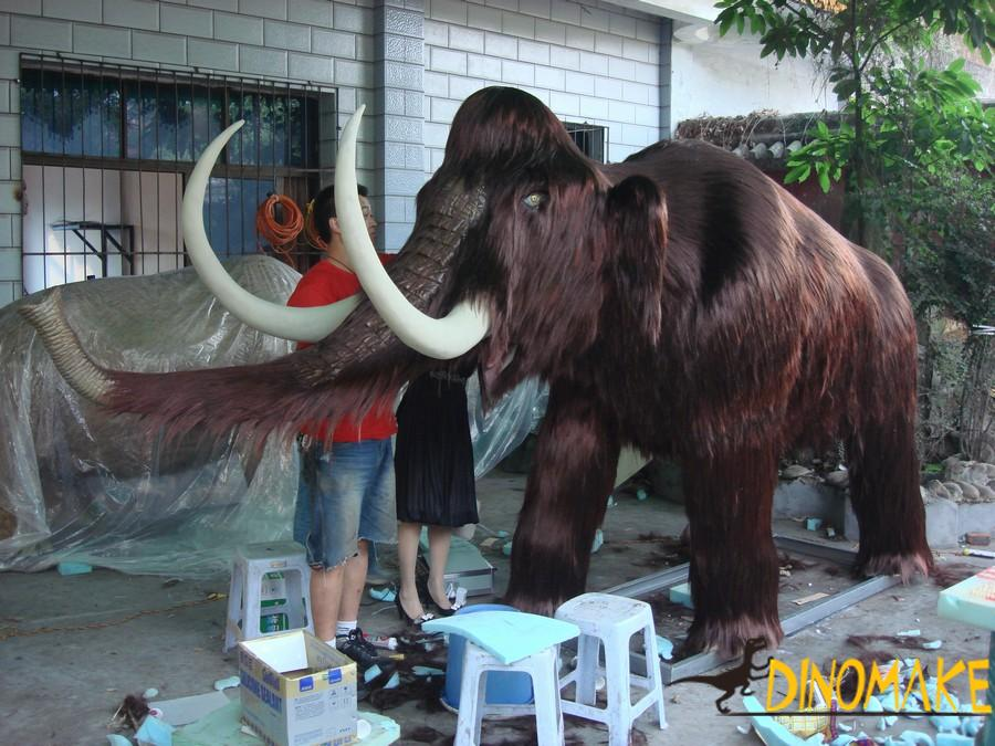 Prehistoric biological Animatronic Mammoth