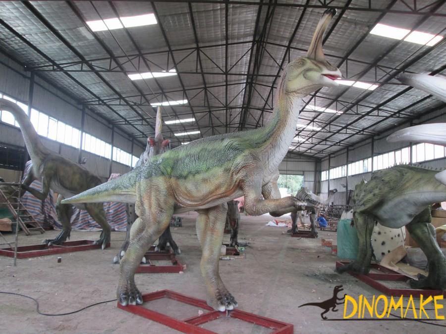 Real life-size Animatronic dinosaur Tsintaosaurus