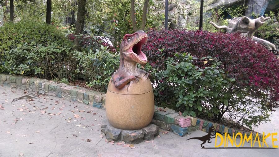 Realistic Animatronic Dinosaur trash can