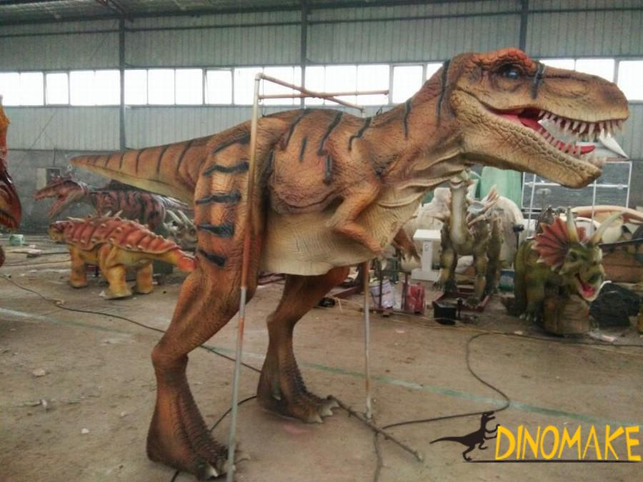 Realistic T-Rex dinosaur Costume airlifted to North America
