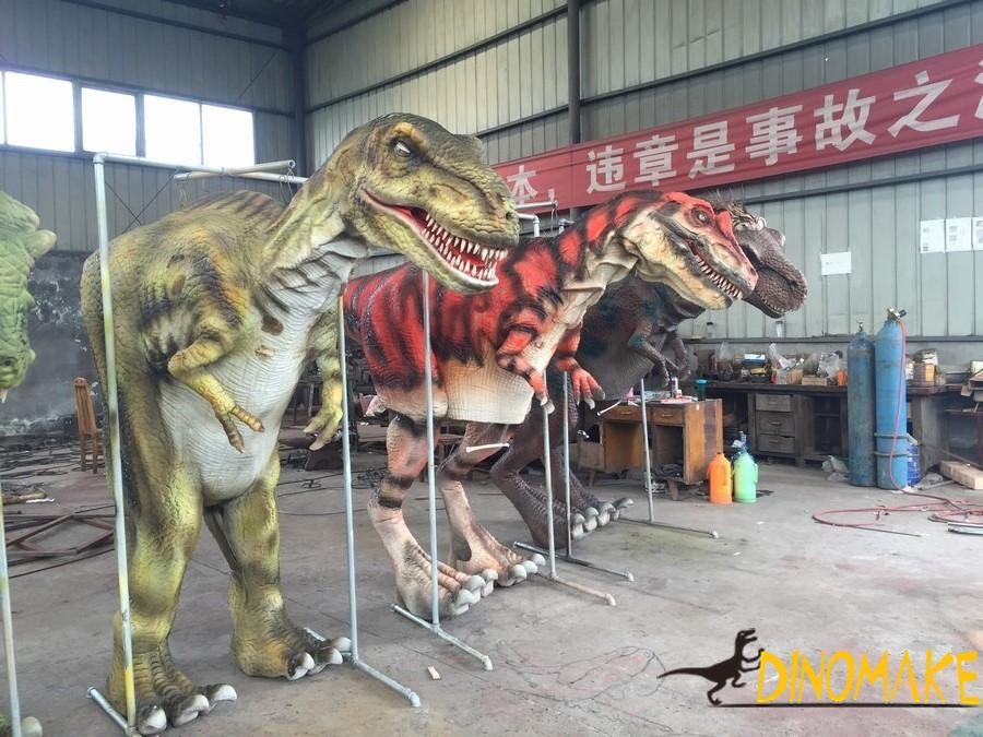 Realistic t-rex walking dinosaur costume for adults