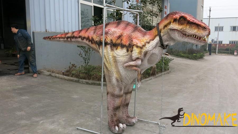 Realistic t-rex walking dinosaur costume