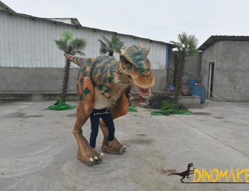 The realistic walking dinosaur costume of sale