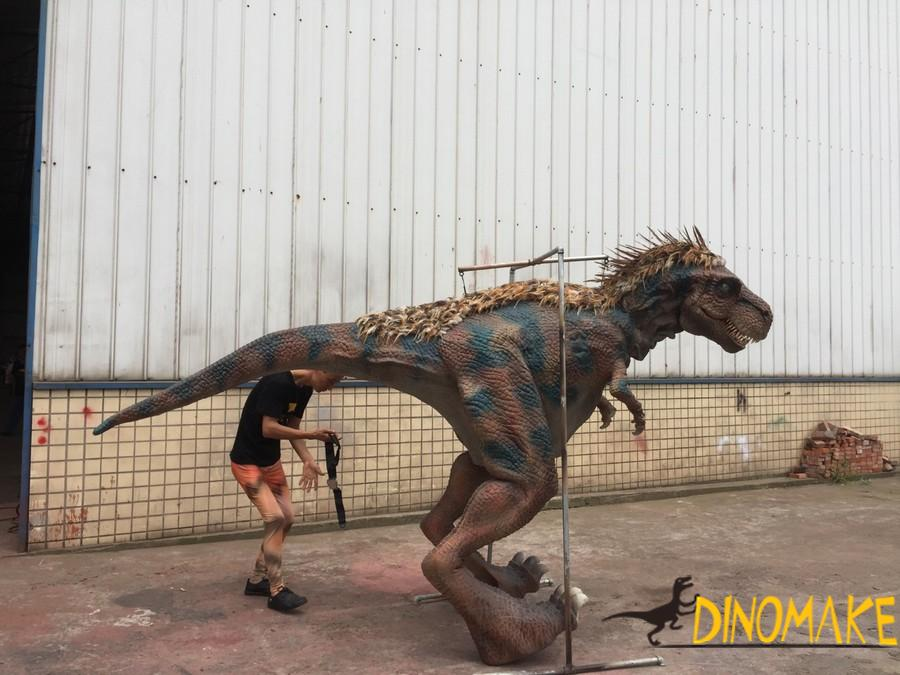 Robotic Dinosaur Costume Models Controlled