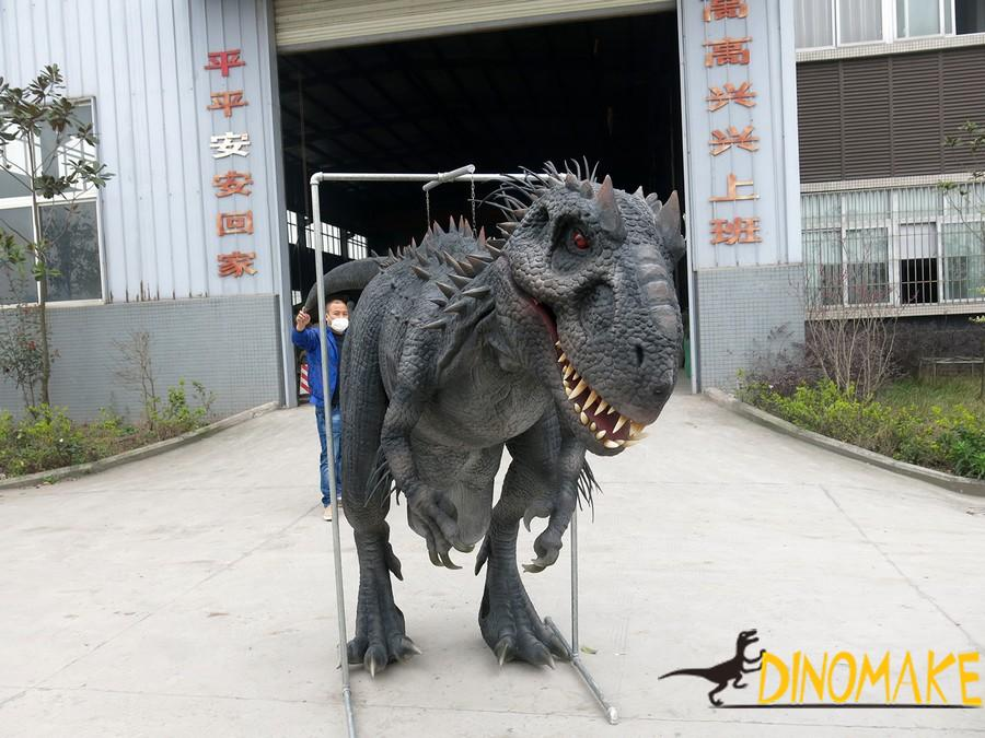Spanish custom black skin Animatronic dinosaur costume