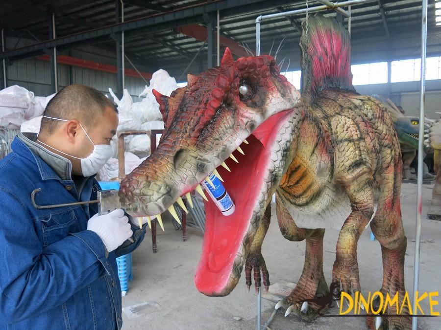 Super realistic Animatronic dinosaur costume adult dinosaur puppet