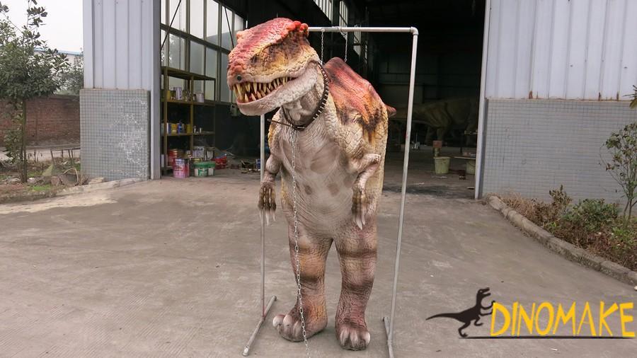 T-Rex With Animatronic Realistic Dinosaur Costume