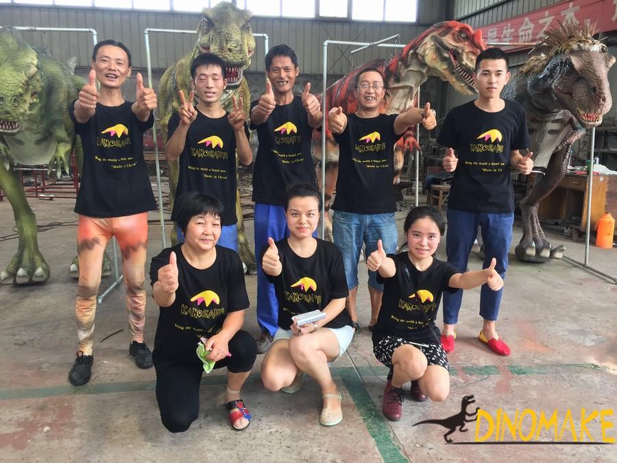 T-rex Dinosaur Walking with Spinosaurus Costume