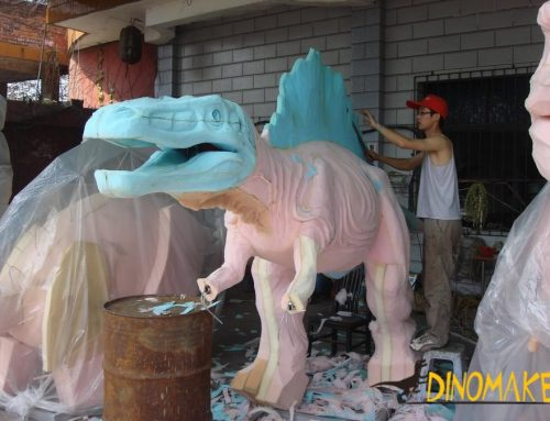 The theme park Animatronic Dinosaur model