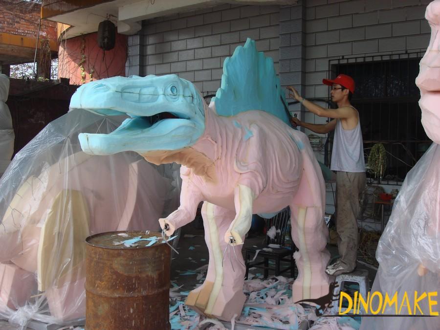 The Animatronic dinosaur model