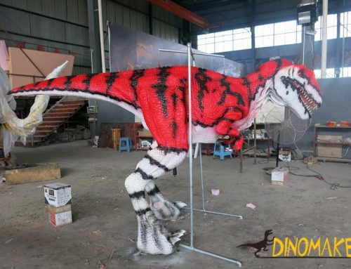The T-Rex dinosaur costume of USA life-size handmade