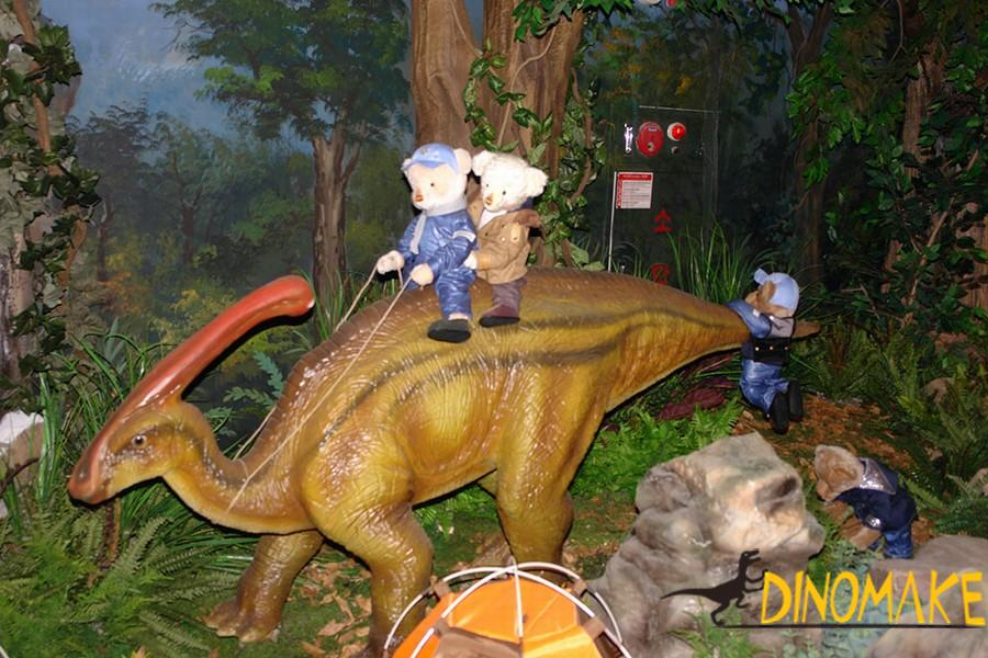 The life-size Animatronic Dinosaur model