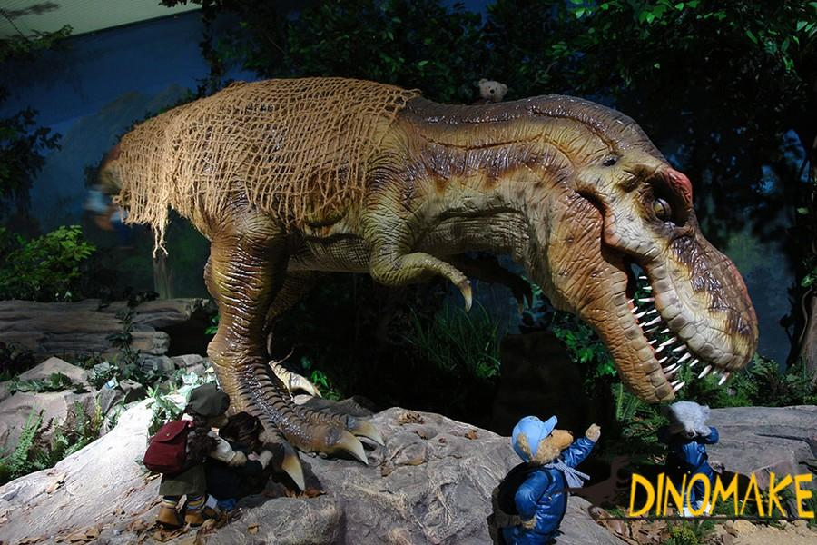 The life-size Animatronic Dinosaur of the T-Rex model