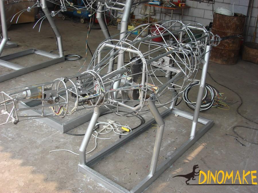 The theme park Animatronic dinosaur model