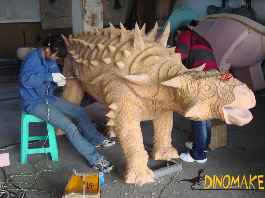 The theme park Animatronic dinosaur models