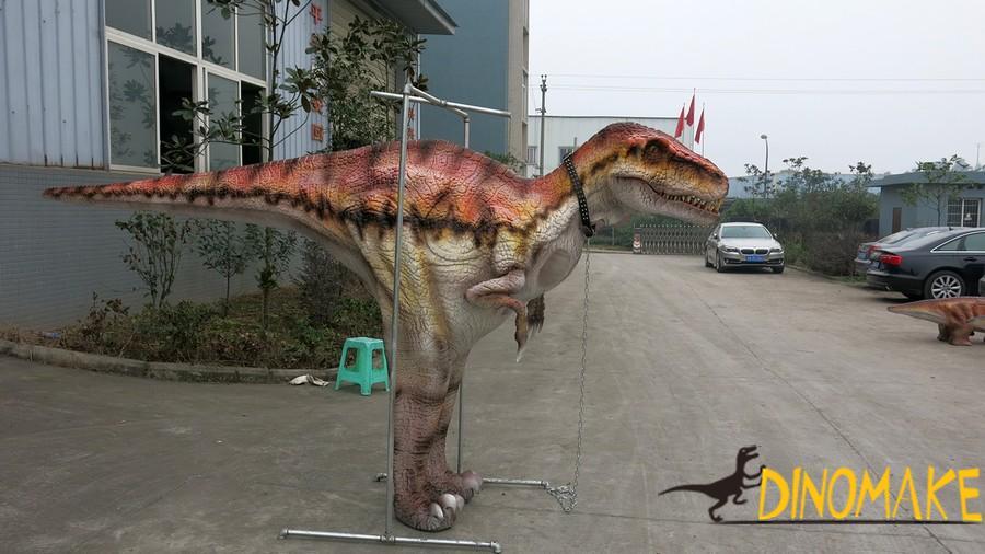 Theme park animatronic walking Dinosaur costume of high quality mechanical