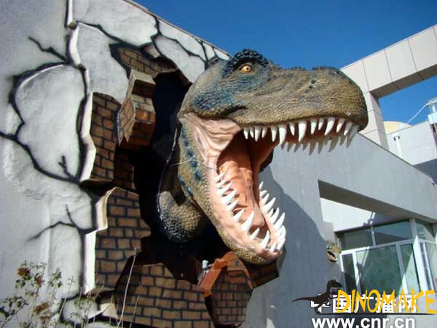 Theme park make Animatronic Dinosaurs Head T-Rex