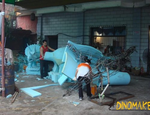 Theme park real Animatronic Dinosaur model