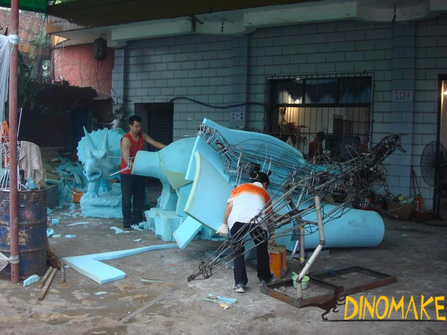 Theme park real Animatronic dinosaur model