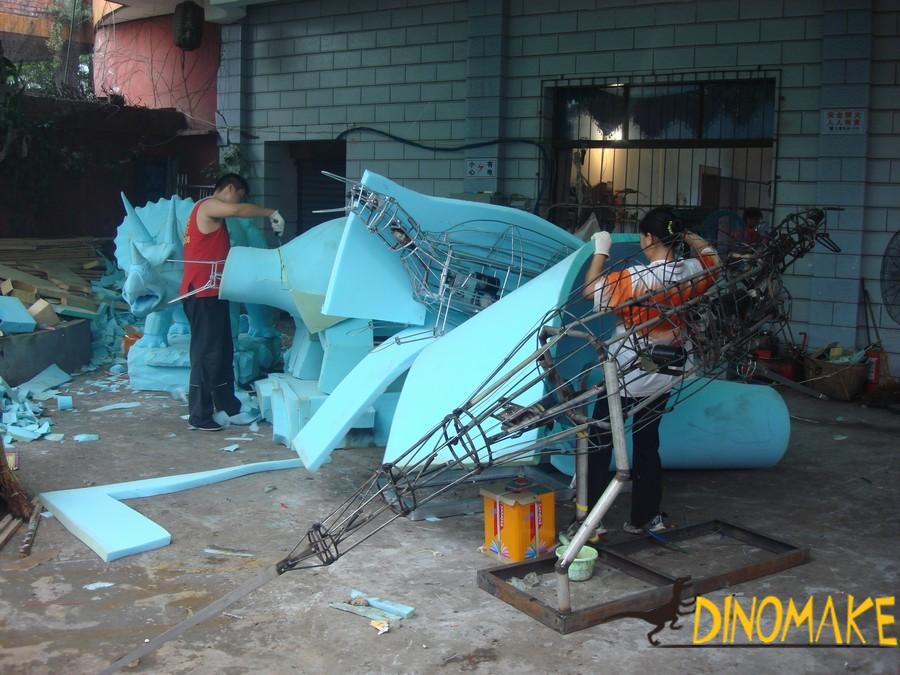 Theme park real Animatronic dinosaurs model