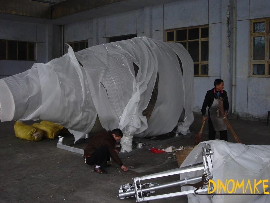 USA Client Finalize Life-size Animatronic Dinosaur Product Order