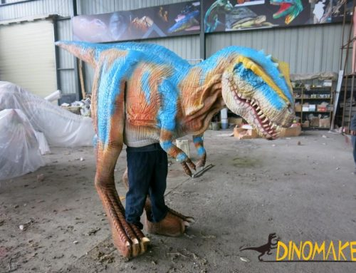 Used for adult performance of Animatronic Dinosaur Costume