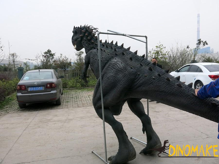 Walking dinosaur costume in the Theme park high quality mechanical