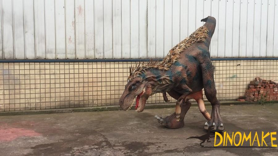 Walking dinosaur costume of Jurassic park