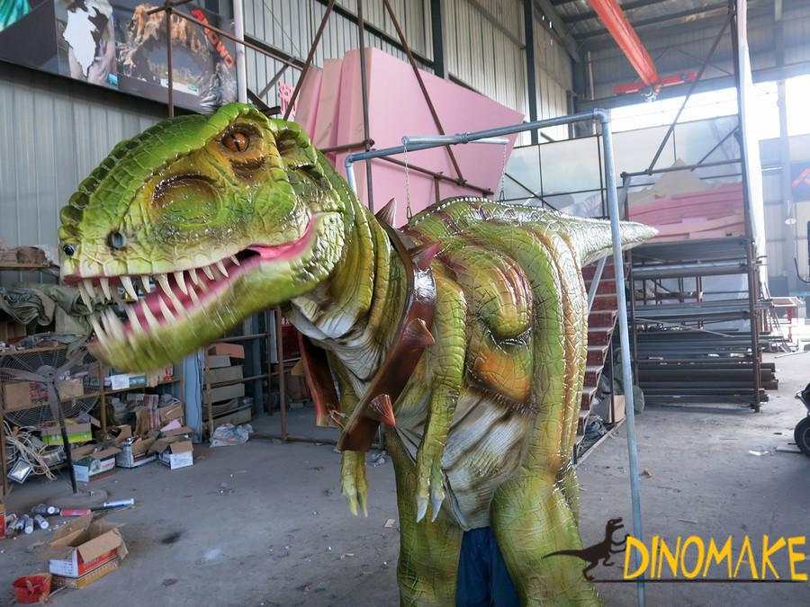 Walking dinosaur costume on the Theme park high quality mechanical