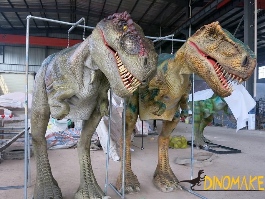 Walking dinosaur of realistic costume