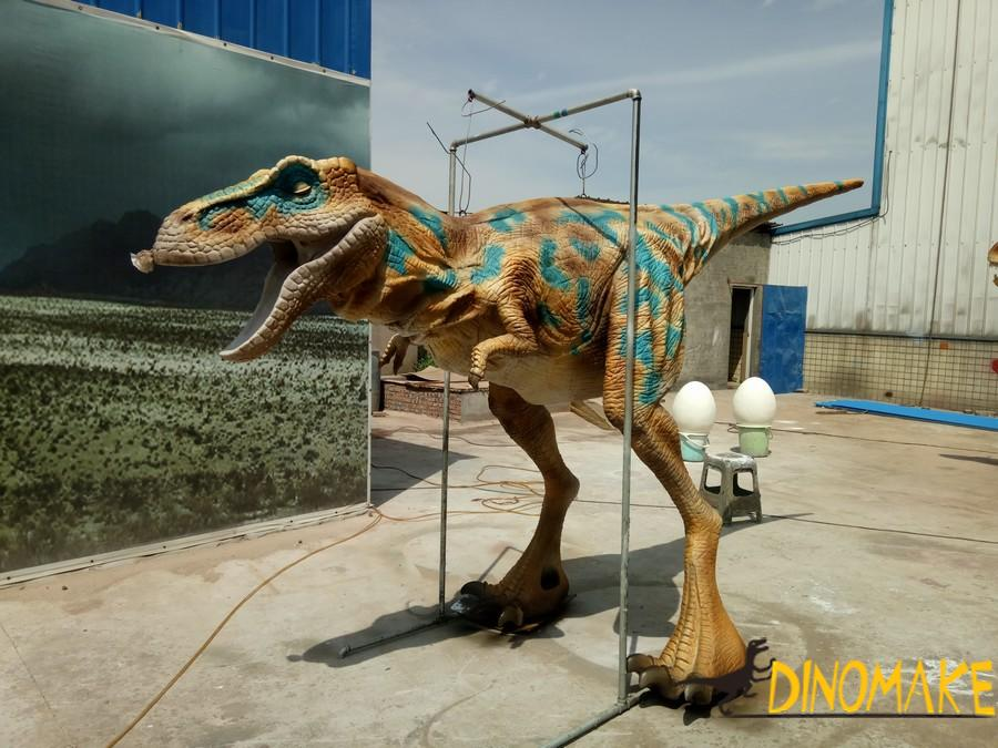 Walking in the park with Animatronic dinosaur suit
