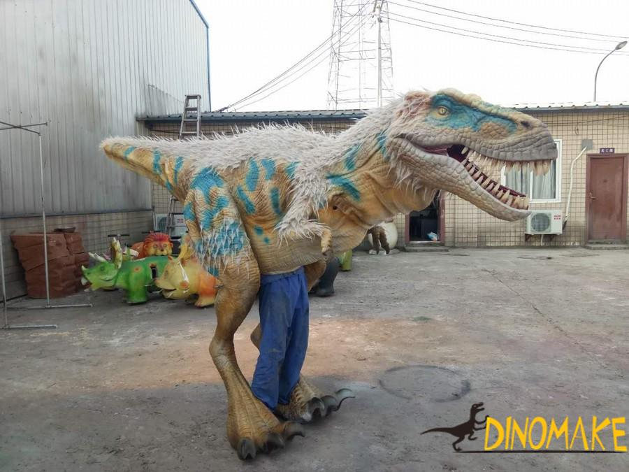Walking in the park with Animatronic dinosaurs costume