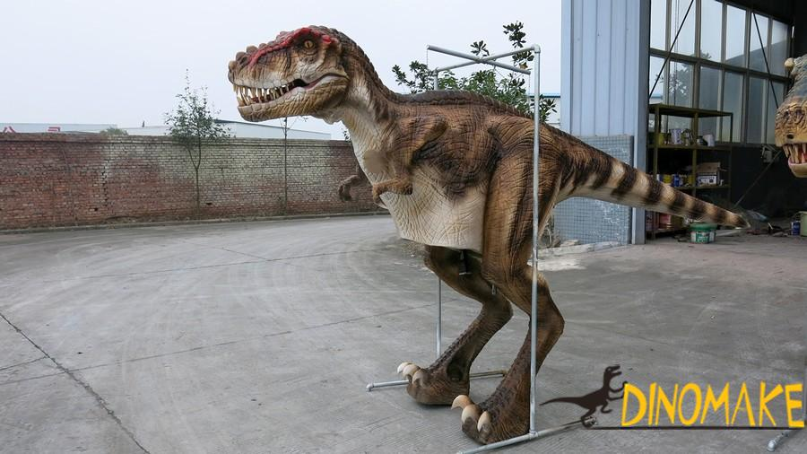 Walking with the dinosaur costume of T-Rex