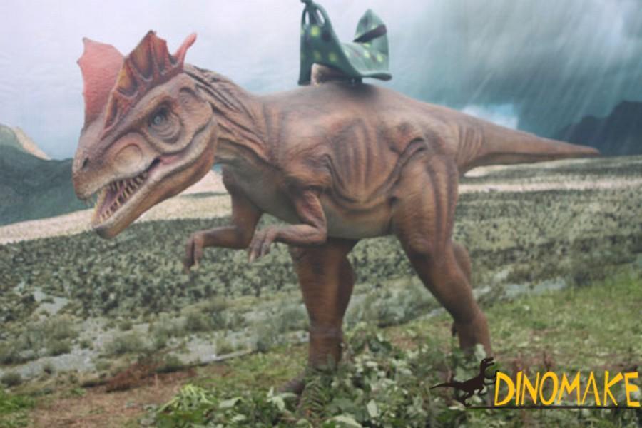 animatronic dinosaur ride of children